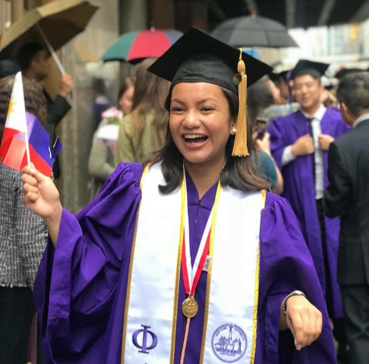 """On her academic success, Panganiban shares that: """"I didn't feel like I did  anything extraordinary. I was just studying what I loved studying."""