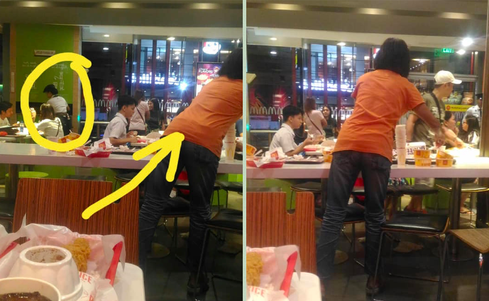 Look Mom Sees How Busy Her Daughter Is Bussing Tables At