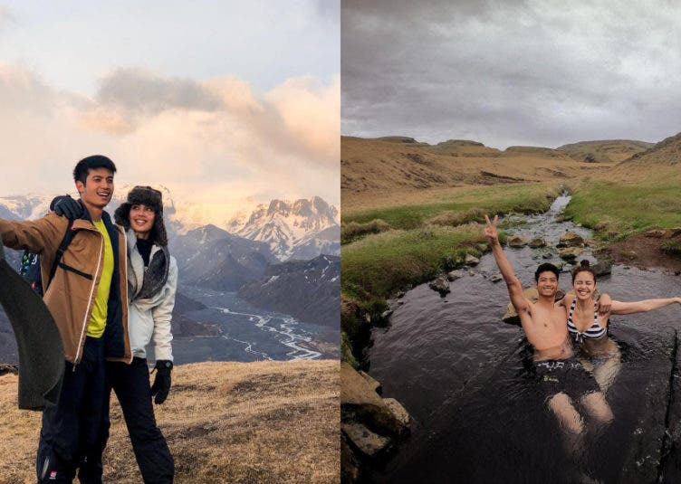 Megan Young and Mikael Daez Iceland