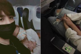 Strangers Become Couple Holding Hands Flight Turbulence