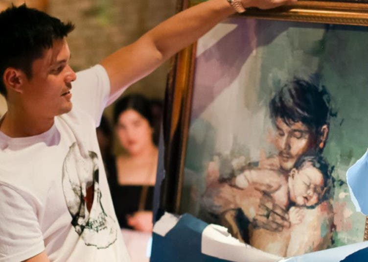 Dingdong Dantes painting with Baby Ziggy