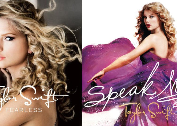 taylor swift old albums speak now fearless