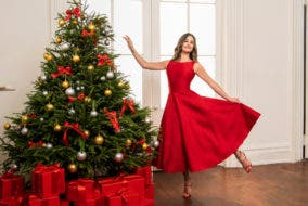 Lea Michele Christmas Glee