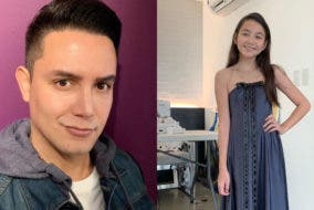 Paolo Ballesteros sews dress for daughter
