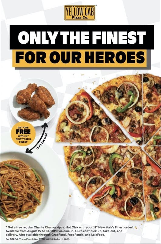 Photo from Yellow Cab Philippines