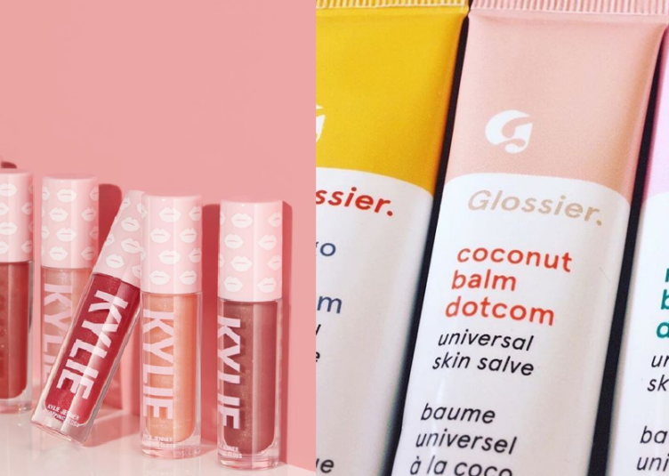 Photo from Glossier and Kylie Cosmetics
