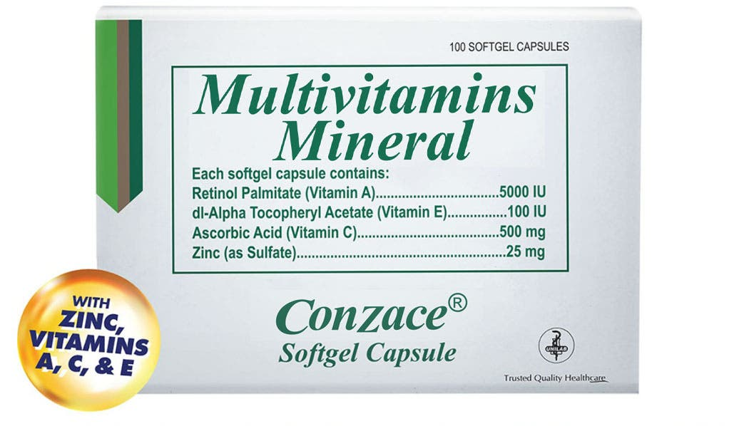 WIM Multivitamins and Mineral Conzace Packaging